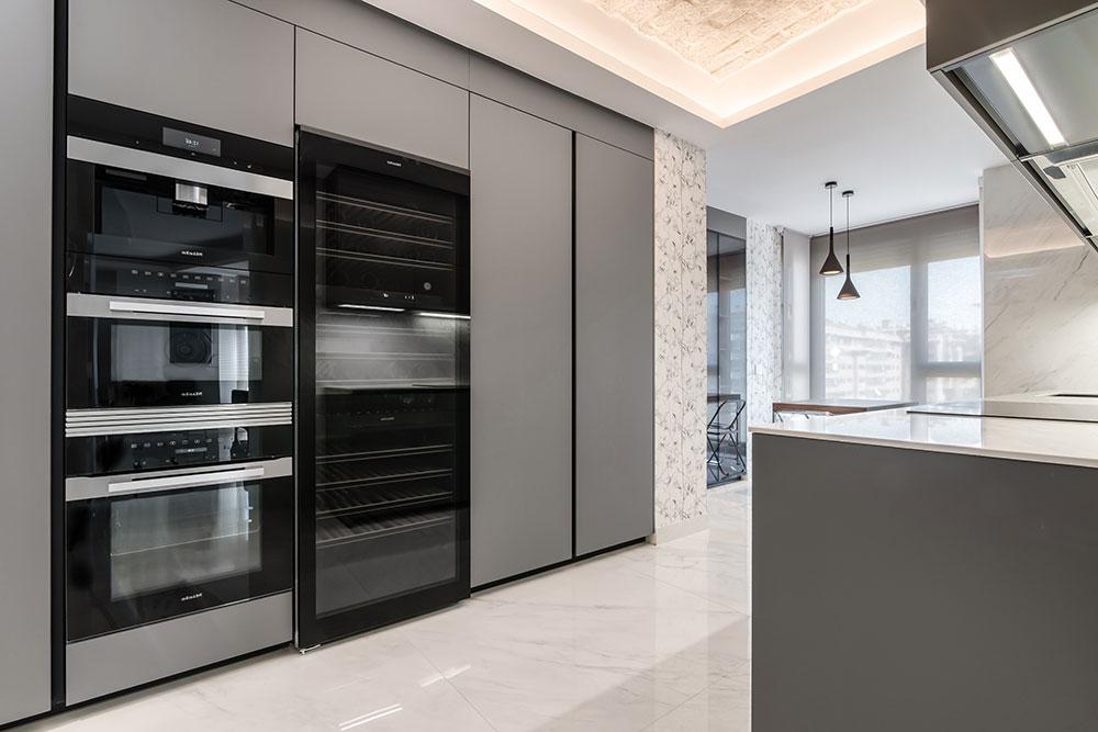 Electrodomésticos integrados en la cocina